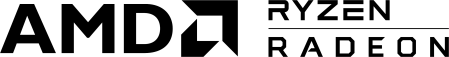 Logo Ryzen-Radeon horizontal BLACK PNG